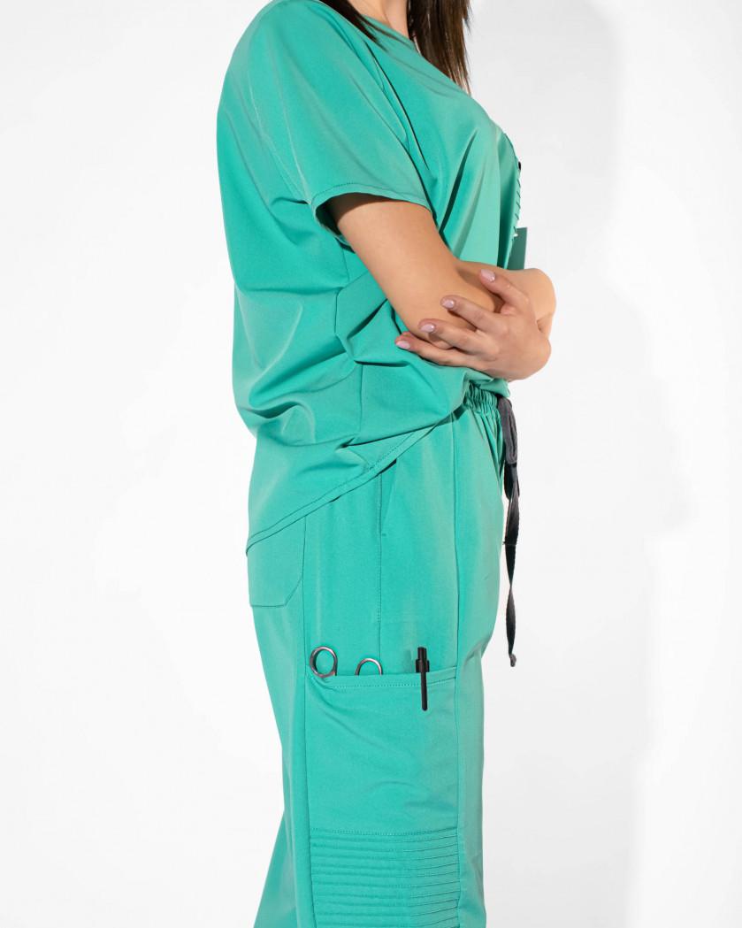 Pantaloni medicali cu sase buzunare