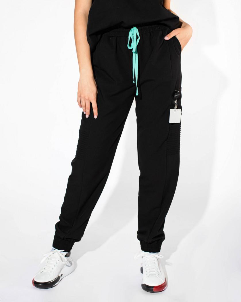 Pantaloni tip jogger cu talie elastica
