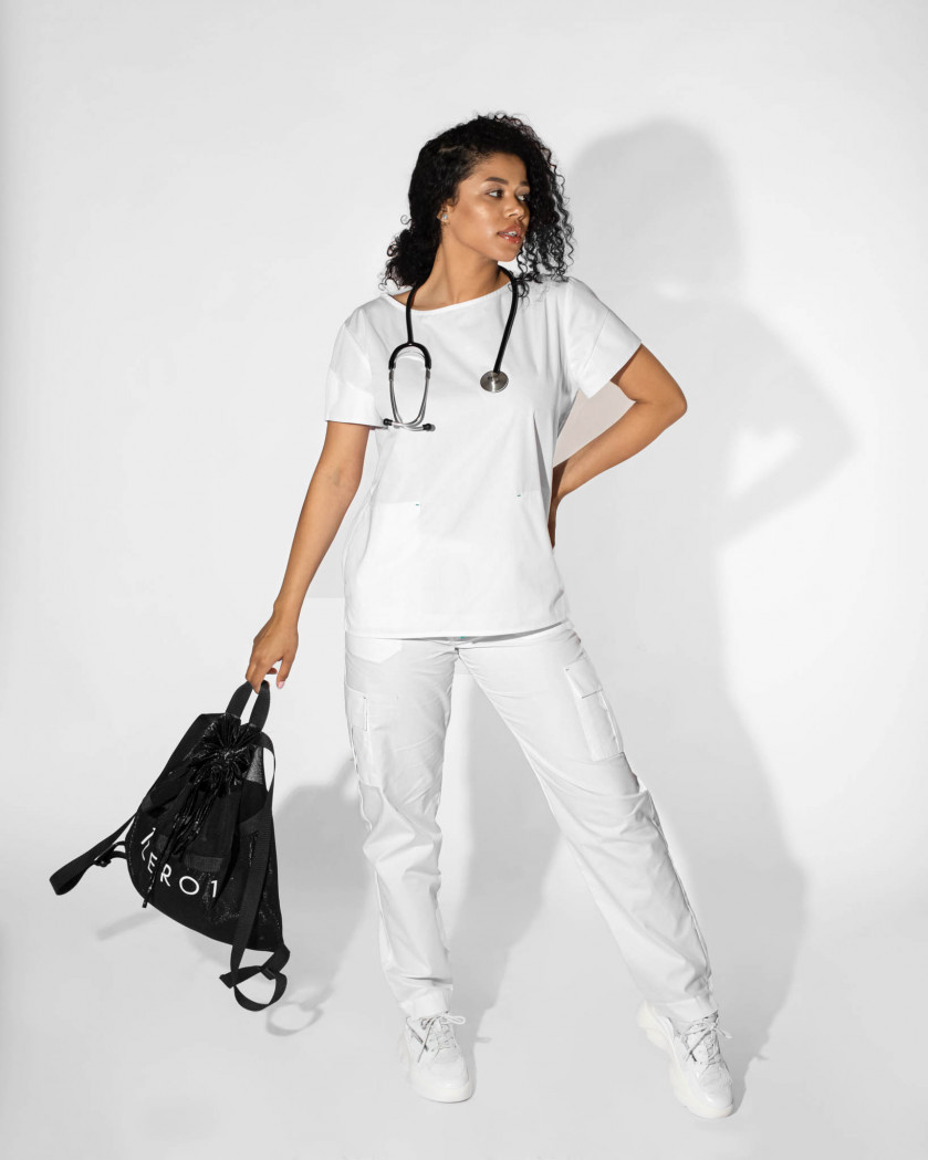 Pantaloni medicali cu buzunare laterale