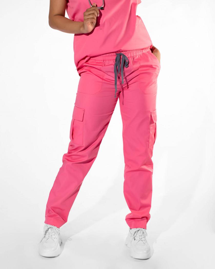 Pantaloni medicali tip cargo cu buzunare
