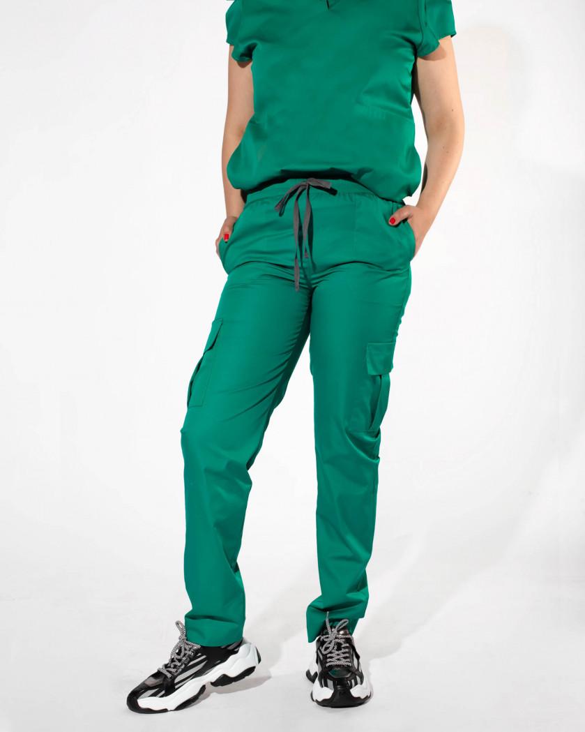 Pantaloni medicali cu buzunare supradimensionate