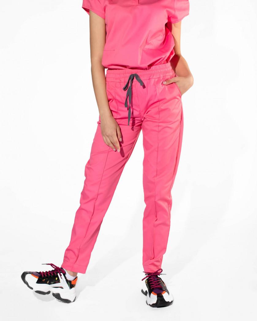 Pantaloni medicali conici din tesatura rigida