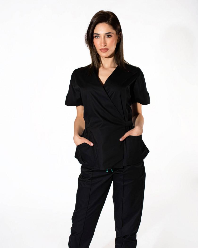 Bluza medicala dama cu cordon